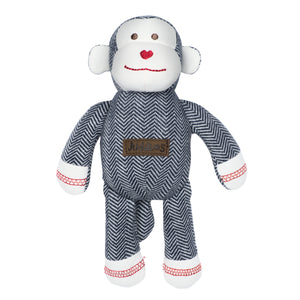 Organic Cottage Collection Rattle Monkey- Lake Blue