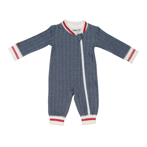 Image of Organic Cottage Playsuit - Lake Blue
