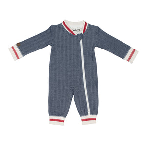 Organic Cottage Playsuit - Lake Blue