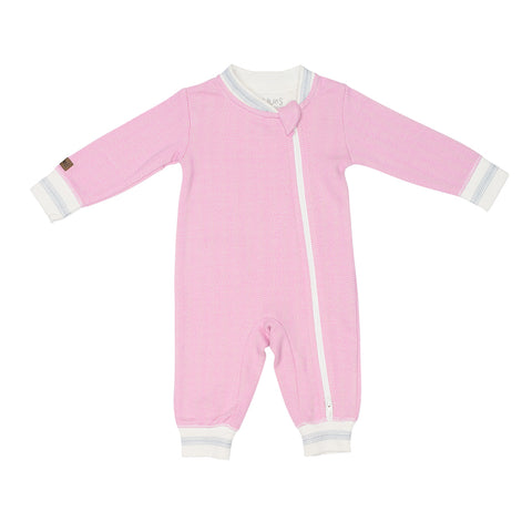 Image of Organic Cottage Playsuit - Sunset Pink