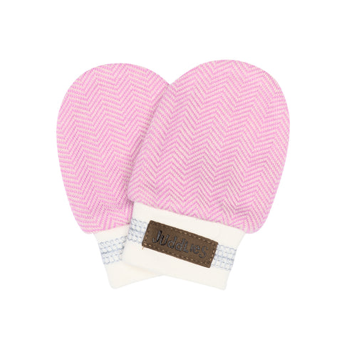 Organic Cottage Scratch Mitts - Sunset Pink