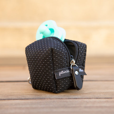 Image of Pacifier Porter: Black Neoprene