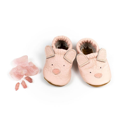 Pink Bear Cute Critters Leather Shoes