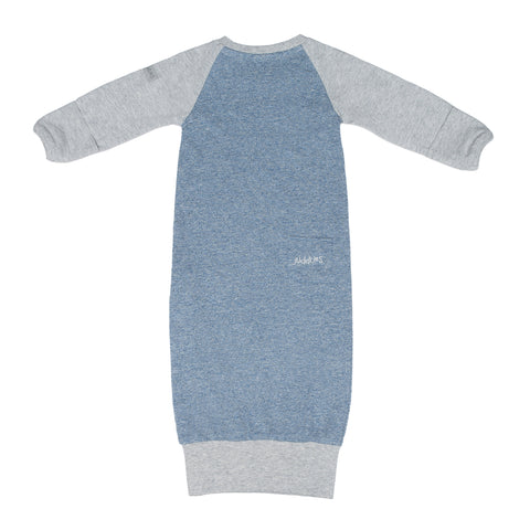 Image of Raglan Organic Nightie - Denim Blue