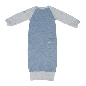 Raglan Organic Nightie - Denim Blue