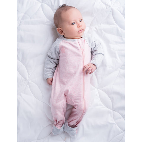 Image of Raglan Organic Playsuit-Dogwood Pink
