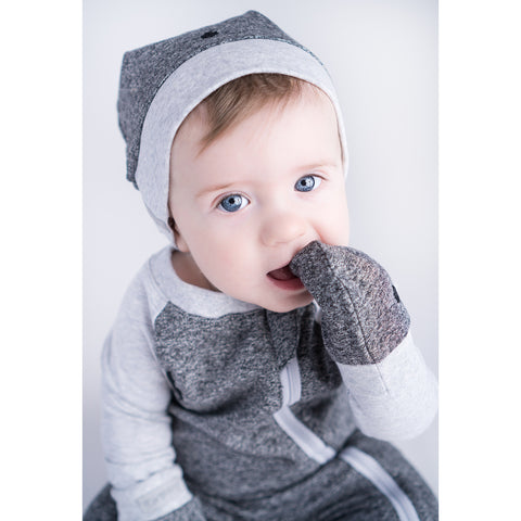 Image of Raglan Organic Scratch Mitts - Graphite Black