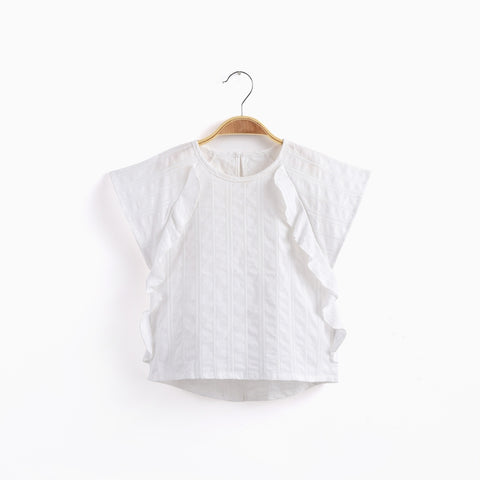 Image of Ruffled S/S Blouse