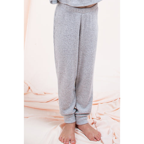 Image of SET6613-KIDS SOLID KNIT LOUNGEWEAR