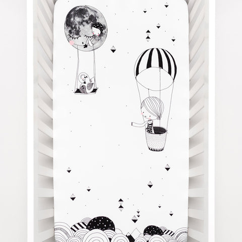 Image of Rookie Humans Frieda & The Balloon Crib Sheet