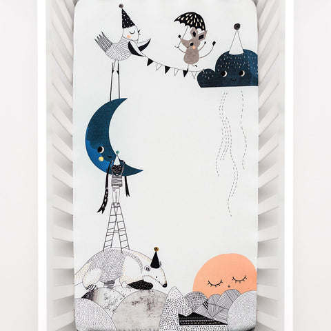 Image of Rookie Humans The Moon's Birthday Crib Sheet (Pre-Order)