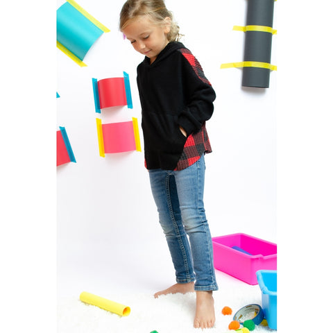 Image of TA0284-KIDS BRUSHED BUFFALO BACK HOODIE TOP