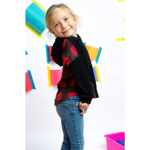 TA0284-KIDS BRUSHED BUFFALO BACK HOODIE TOP