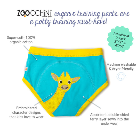 Training Pants - Elephant, Zebra & Giraffe 3PK