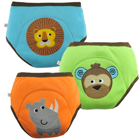 Training Pants - Lion, Monkey & Rhino 3PK