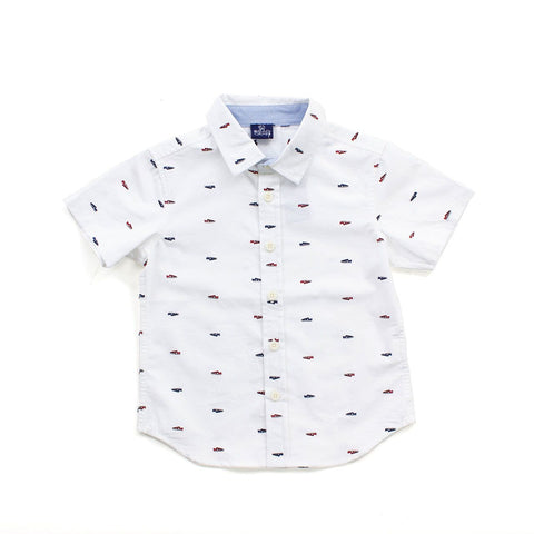 Image of White Gilbert Toddler Button Down