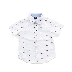 White Gilbert Toddler Button Down