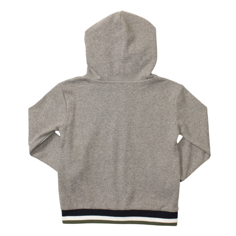 Image of Zip Up Hoodie with Contrast Stripe Cuffs