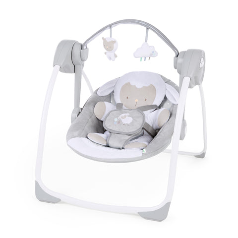 Ingenuity - Comfort 2 Go Portable Swing - Cuddle Lamb
