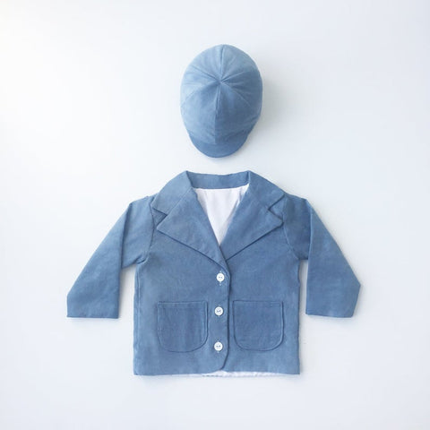 Image of corduroy blazer - blue