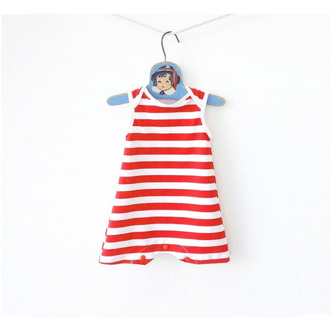 unisex striped swimsuit - red