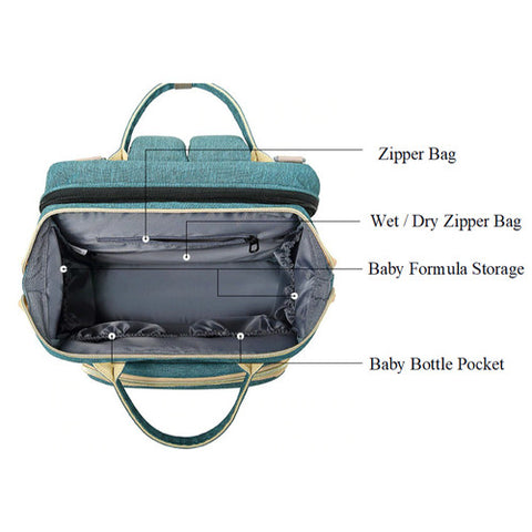 Portable Bassinet Diaper Bag