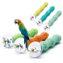 Load image into Gallery viewer, 8X2Cm Pet Bird Grinding Claw Stick Parrot Stand Rod Bird Supplies Bird Cage Accessories Parrot Grinding Toy Random Colour Hot