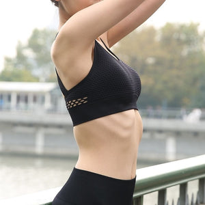 Women Sports Bra Tops High Impact for Fitness Yoga Running Pad Cropped Top Sportswear Tank Sports Push Up LKS