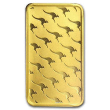 Load image into Gallery viewer, 5pcs/lot,1 OZ Non magnetic 24k gold plated Perth mint Australia bullion bar (Replica Bar)