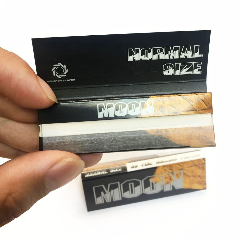 2019 New 50 booklets Moon Gold Cigarette Rolling Papers 70*36mm 2500 leaves