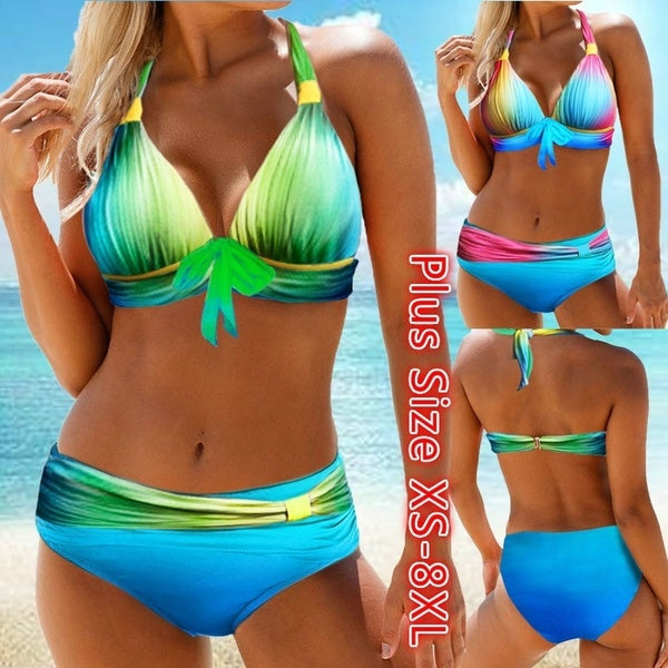 Women Swimsuit Swimwear Bathing Suit Bikini Tankini Beachwear Plus Size