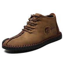 Load image into Gallery viewer, Mens Oxford Leather Shoes Casual Business Leather Boots Driving Boots