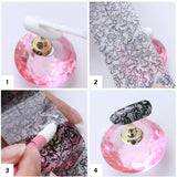 10PCS Nail Foil Sticker Set Holographic Starry Sky Adhesive Wraps Transfer Paper Marble Shining Nail Art Decal