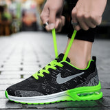Men / Women Air Cushion Tennis Sneakers Outdoor Breathable Running Sports Shoes Casual Walking Shoes for Couples