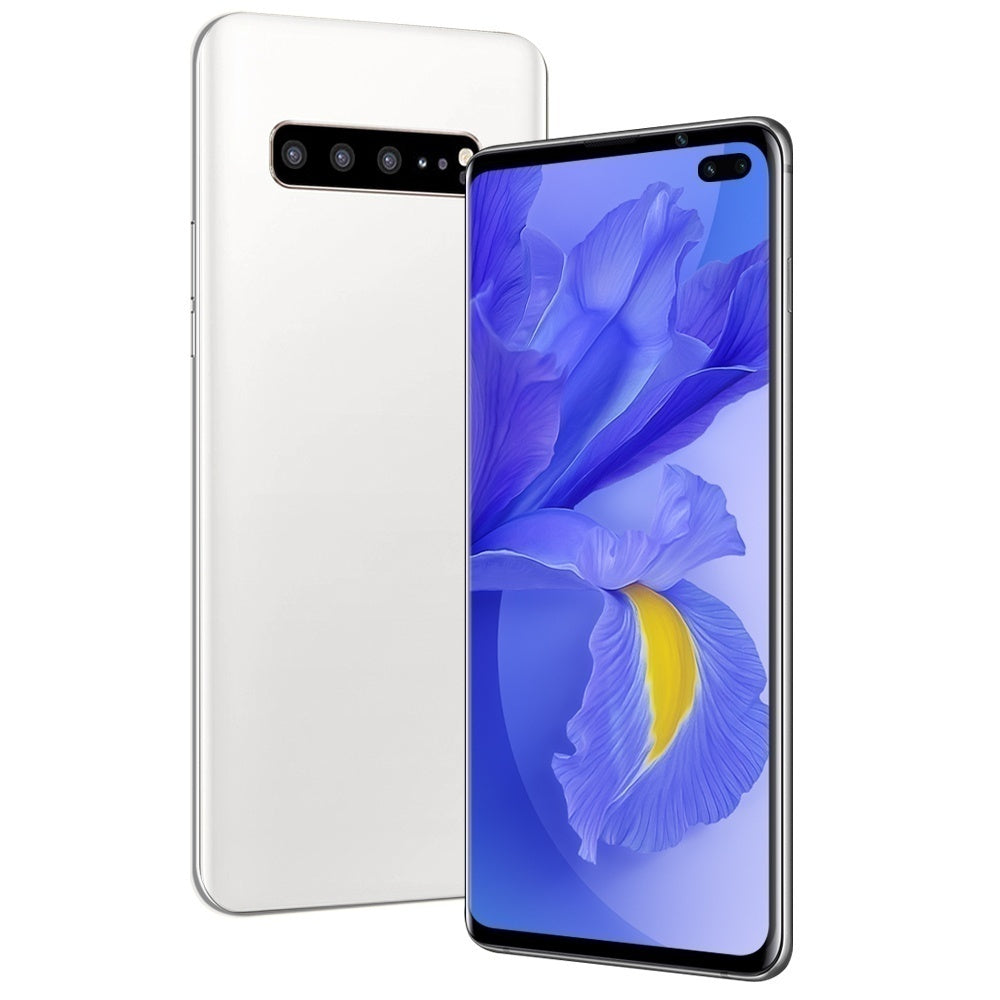 Android Mobile S10+ with 6.1 Inch Smartphone  Large Memory Full Screen 6+128 GB Face Recognition Smartphone Dual Card Support T Card Mobile Phones