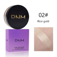 Load image into Gallery viewer, DNM 3 Colors Highlighting & Bronzer Loose Highlighter Powder Glow Shimmering Glitter Brighten Face Makeup Silky Pearl Shine 3D Face