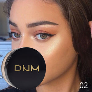 DNM 3 Colors Highlighting & Bronzer Loose Highlighter Powder Glow Shimmering Glitter Brighten Face Makeup Silky Pearl Shine 3D Face