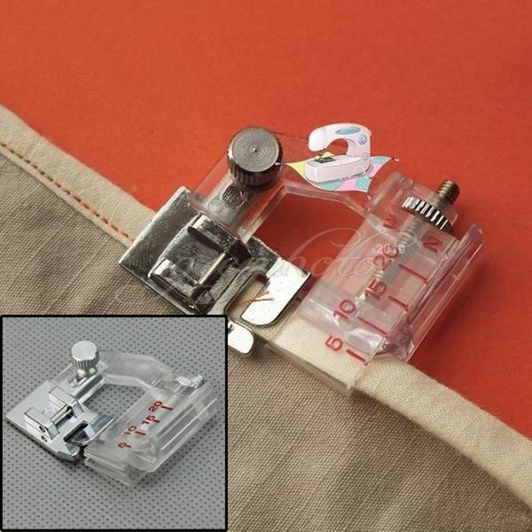 Home Snap-on Adjustable Bias Binder Presser Foot Feet for Sewing Machines Accessories Adjust Edge Presser Foot
