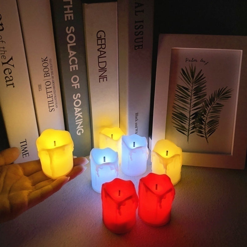 6pcs /1pcs Light Flameless LED Tealight Tea Candles Wedding Party Decorative Light