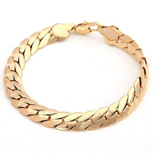 Load image into Gallery viewer, 18K Solid Yellow Gold Men's Bracelet Chain Jewelry Gift Men Jewelry Women Jewelry 220mm 8.5'