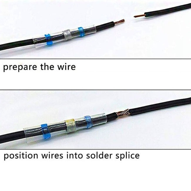 10/20 Pcs Heat Shrink Solder Sleeve Connectors Heat Shrink Wire Solder Seal Connector Waterproof Insulated Connectors