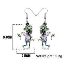 Load image into Gallery viewer, Acrylic Halloween Cartoon Scary Zombie Earrings Drop Dangle Fashion Novelty Jewelry For Women Girls Party Charms Gifts