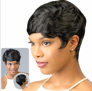 Brazilian Human Hair Short Pixie Wigs Straight Curly Wavy for Women Wig