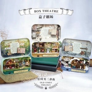 Box DIY Doll House Theatre Wooden Creative Handmade Miniature Countryside Notes Puzzle Toys Birthday Gift