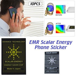 10PCS/set Cell Phone Radiation Protection Stickers EMR EMF Protecting Technology
