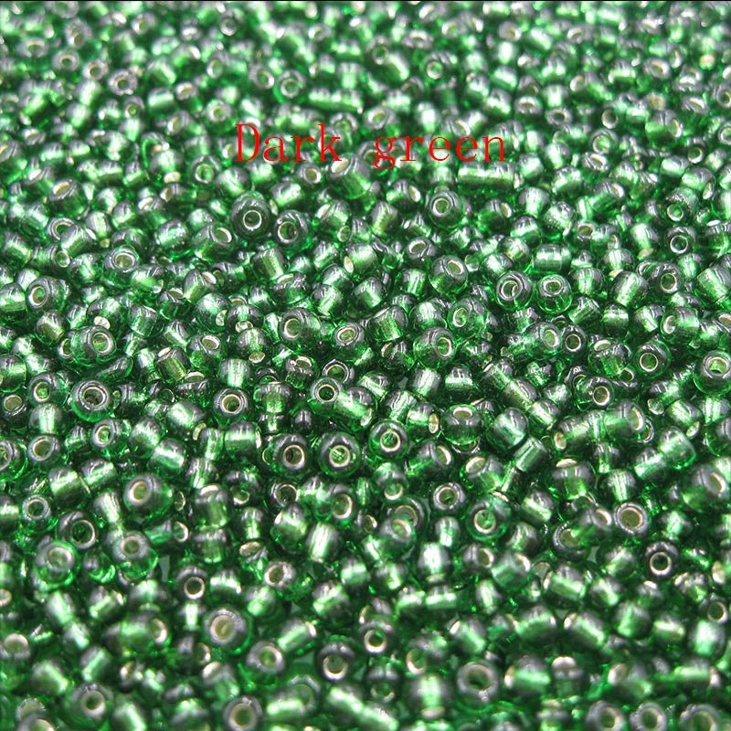 200-1500pcs/lot 2/3/4mm Silver Lined Round Hole Seed Beads Czech Crystal Round Colorful Glass Seed Spacer Beads for DIY Jewelry Making Jewelry Finding