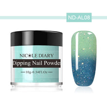 Load image into Gallery viewer, NICOLE DIARY Thermal Color Changing Dipping System Nail Powder No UV Lamp Cured Dip Nail Powder