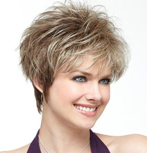 Load image into Gallery viewer, woman Fashion Synthetic wig middle age daily Wig Short Haircut Curly Mixed color Ombre Blonde Wigs Short Hair Mother sexy wigs