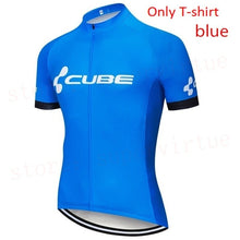 Load image into Gallery viewer, Please come to our shop. summer cycling jerseys . cycling clothing CUBE Top Quality New Cycling Jersey Short Sleeve Quick Dry Summer Racing Bike Cycling Clothing MTB Cycle Sportswear Bib Shorts With 12D Padded