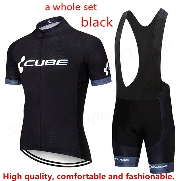 Please come to our shop. summer cycling jerseys . cycling clothing CUBE Top Quality New Cycling Jersey Short Sleeve Quick Dry Summer Racing Bike Cycling Clothing MTB Cycle Sportswear Bib Shorts With 12D Padded